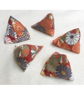 Red Japanese Print Small Five Stones