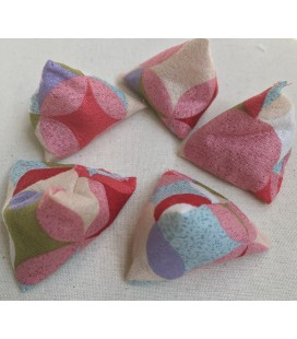 Pink Japanese Print Small Five Stones