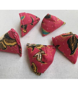 Red Batik Small Five Stones