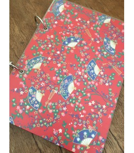 Japanese Print Ring Bound Refillable Notebook