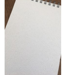White Embossed Paper Bound Notebook