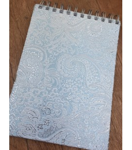 Blue & Silver Fabric Bound Notebook