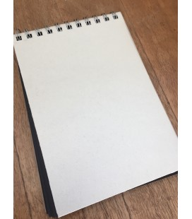 White embossed Paper Bound Notebook with Black inserts