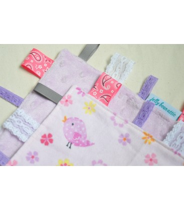 Pink Birds Baby Taggy