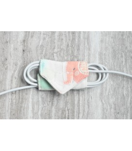 Pink Elephants Cable Organiser