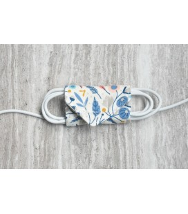 Blue Feathers & Flowers Cable Organiser