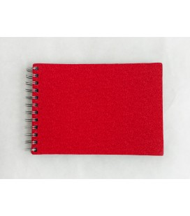 Red Fabric Ring Bound Refillable Notebook
