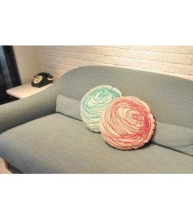 *Exclusive* Round Abstract Flower Cushion