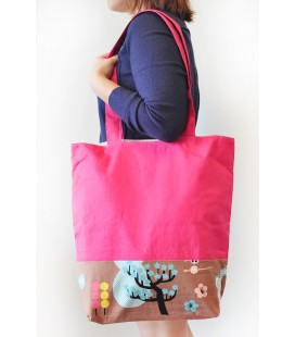 Reversible Tote Bag (Pink)