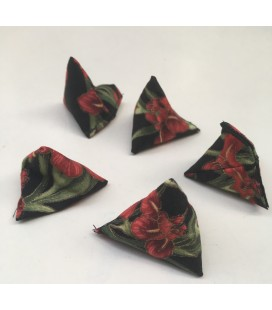 Black and Red Flowers Small Five Stones