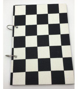 Finish Flag Fabric Ring Bound Refillable Notebook