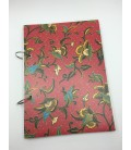 Red Batik Ring Bound Refillable Notebook