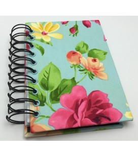 Blue Floral To-Do List Bound Handmade Book
