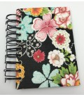 Black Floral To-Do List Bound Handmade Book