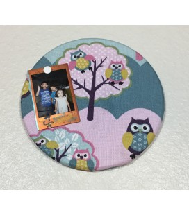 Owl Fabric Cork Boards