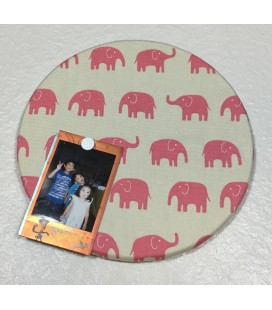 Pink Elephant Fabric Cork Boards