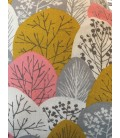 Pink and Grey Forest Cloud Cushion